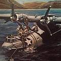 Pby 5 Loading At Pearl Harbor by Richard John Holden RA