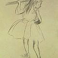 Girl Dancer At The Barre by Edgar Degas