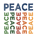 Peace Cute Colorful by Flo Karp
