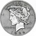 Graphite Peace Dollar by Fred Larucci