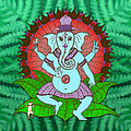 Peace Ganesh Dancing by Peter Barreda