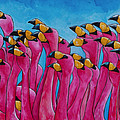 Peace Love And Flamingos by Patti Schermerhorn