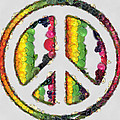 Peace Sign Fruits And Vegetables by Eti Reid