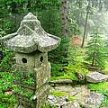 Peaceful Japanese Garden On Mount Desert Island by Edward Fielding