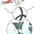 Peacemaker Snowman by Lauri Arntsen