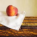 Peach Still Life by Edward Fielding