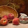 Peaches And Cream Still Life II by Tom Mc Nemar