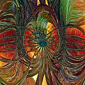 Peacock City Of Abstract Fx  by G Adam Orosco