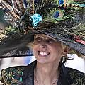 Peacock Hat At 2014 Kentucky Derby  by John McGraw