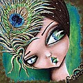 Peacock Princess by Lizzy Love of Oddball Art Co