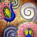Peacock Swirl by Amani Al Hajeri