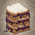 Peanut Butter And Jelly Sandwich by Ym Chin