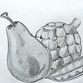 Pear Artichoke Snap Pea by Anna Ruzsan