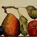 Pear Plum Apple by Carol Sabo