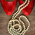 Pearls In Red Shoes by Jill Battaglia