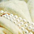 Pearls On White Velvet by Theresa Tahara