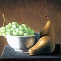 Pears And Grapes by Joseph Ogle