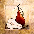 Pears Diptych Part Two by Linda Mears