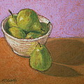 Pears In Bowl by Marna Edwards Flavell
