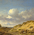 Peasants Driving Cattle And Sheep by Jan Wijnants
