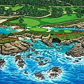 Pebble Beach 15th Hole-north by Jane Girardot