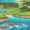 Pebble Beach 15th Hole-south by Jane Girardot