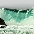 Pebble Beach Crashing Wave by Artist and Photographer Laura Wrede