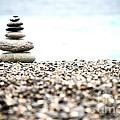 Pebble Stone On Beach by Yew Kwang