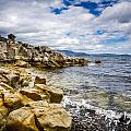 Pebbled Beach Under Dramatic Skies Number Two by Kaleidoscopik Photography
