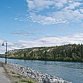 Pedestrian Walkway Along Yukon River In Whitehorse-yk  by Ruth Hager