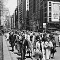 Pedestrians In New York by Underwood Archives