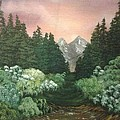 Peek-a-boo Mountains by Amanda Rardin
