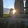 Peek-a-boo Sun At Stonehenge by Denise Mazzocco