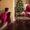 Peeking At Santa by Diane Diederich