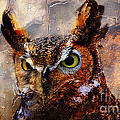Peeking Owl by Marvin Blaine