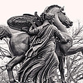 Pegasus Tamed By The Muses Erato And Calliope by Bill Cannon