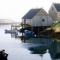 Peggy's Cove Boat And Fisherman's Boat House by Bob Sandler