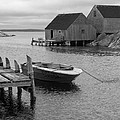 Peggys Cove In Black And White by Richard Bryce and Family