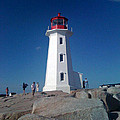 Peggy's Cove Lighthouse by Brenda Brown