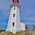 Peggy's Cove Lighthouse Closeup-ns by Ruth Hager