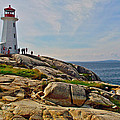 Peggy's Cove Lighthouse On The Rocks-ns by Ruth Hager