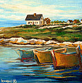 Peggys Cove With Fishing Boats by Carole Spandau