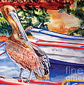 Pelican On A Ponga by Kandyce Waltensperger