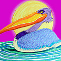 Pelican On The Water 2 by Nick Gustafson