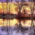 Pella Crossing Sunrise Reflections Hdr by James BO  Insogna