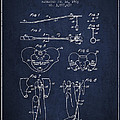 Pelvic Measuring Device Patent From 1963 - Navy Blue by Aged Pixel