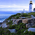 Pemaquid Light At Sunset by Diana Powell