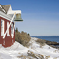 Pemaquid Point Bell House On The Maine Coast by Keith Webber Jr