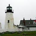 Pemaquid Point Light In The Rain - Maine by Christiane Schulze Art And Photography