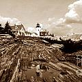 Pemaquid Point Sepia by Skip Willits